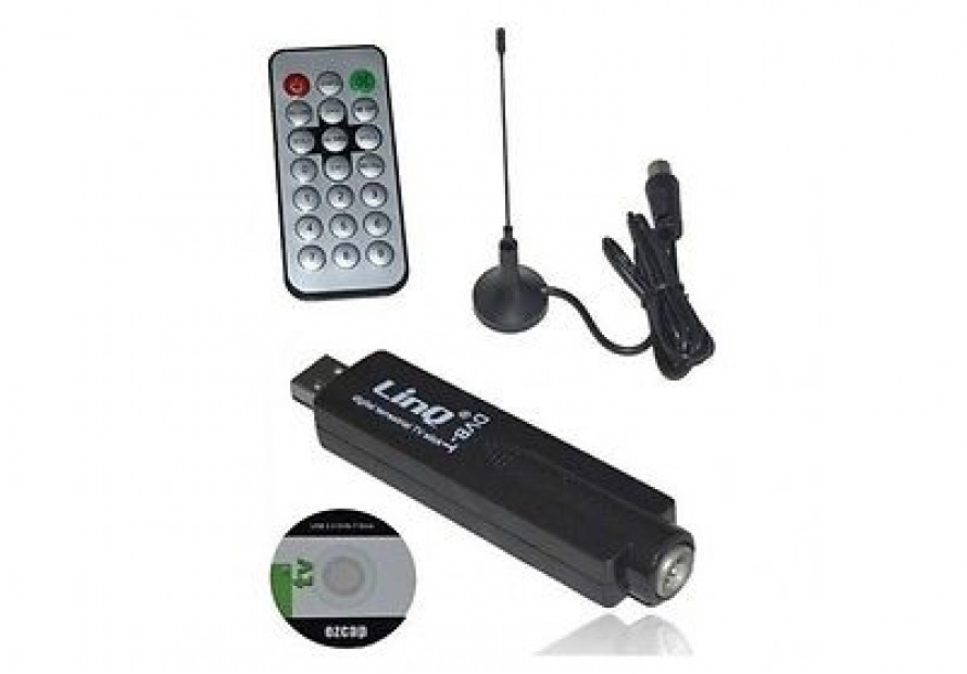 DECODER DIGITALE TERRESTRE USB 2.0 DVB-T HDTV PER PC NOTEBOOK LINQ LI-U869