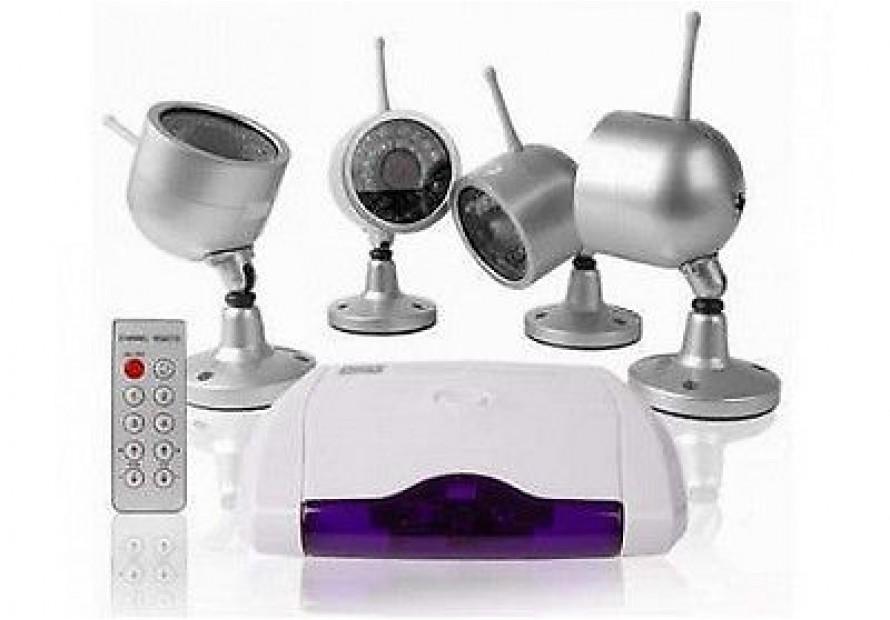KIT 4 TELECAMERE WIRELESS 30 LED VIDEOSORVEGLIANZA VISIONE NOTTURNA CAMERA mshop  eBay