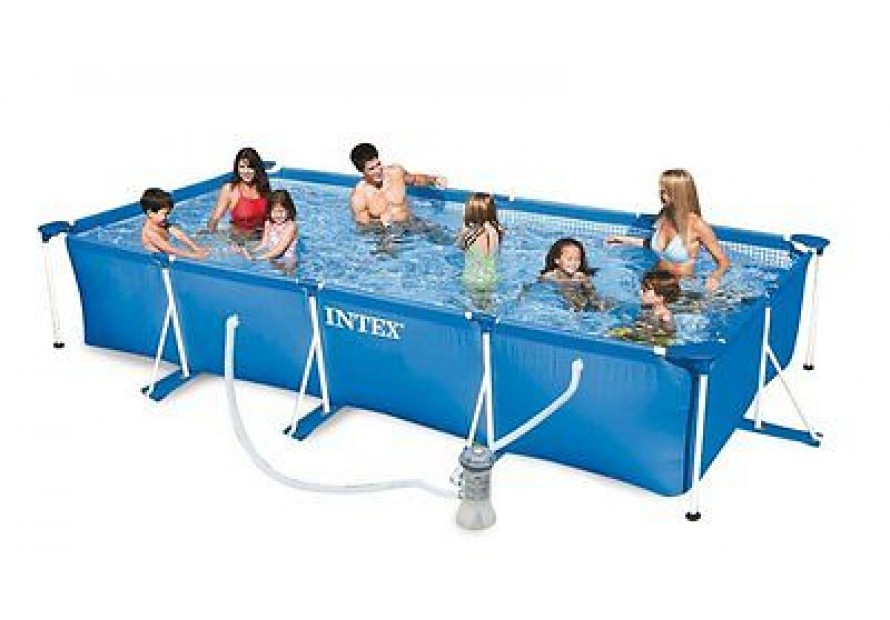 Intex 320071 piscina frame rettangolare cm 450x220x84 con for Ebay piscinas