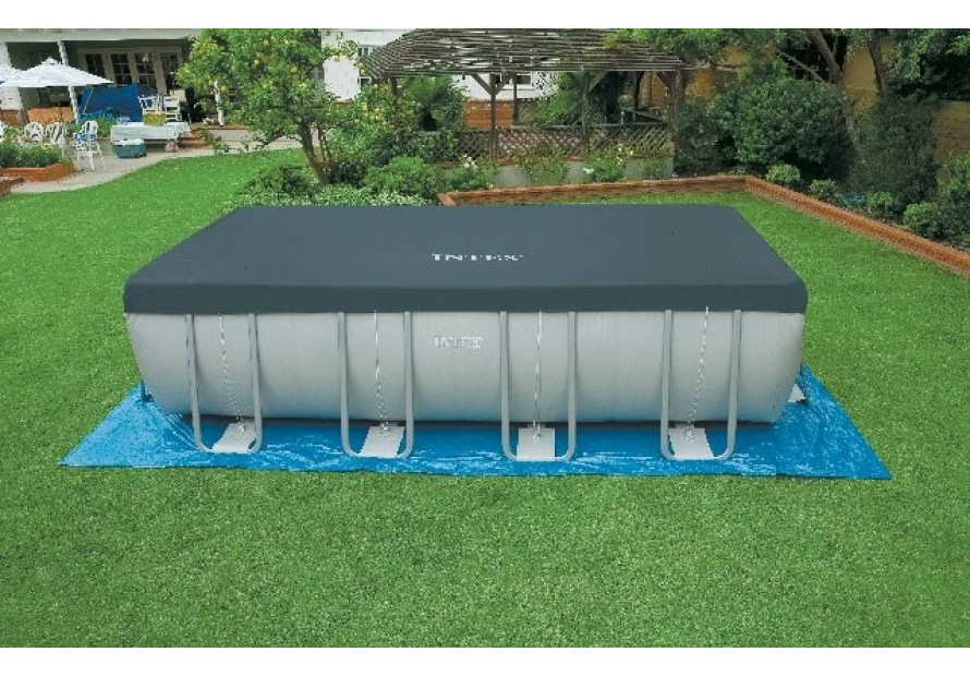 Intex telo piscina copertura rettangolare ultra frame 549 - Telo copertura piscina ...