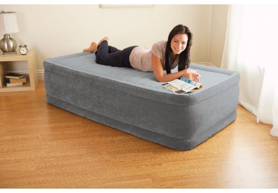 Intex airbed materasso letto singolo gonfiabile comfort for Letto singolo con materasso
