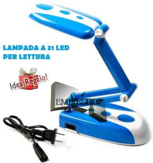 Lampada ricaricabile da 31 led portatile da scrivania for Lampada led lunga