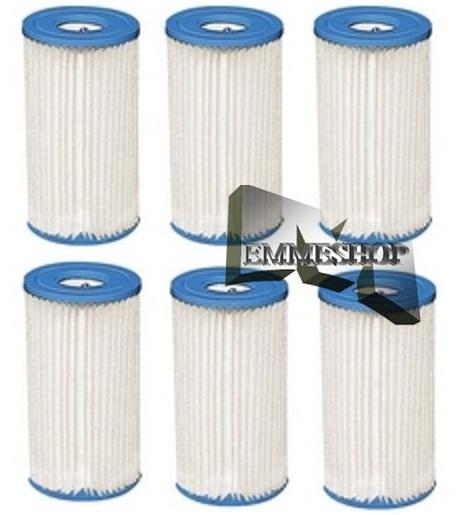 Set 6 pz filtro a cartuccia per pompa piscina intex 59900 for Filtro piscina intex